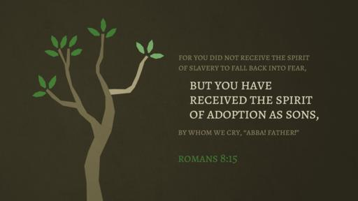 Romans 8:15 verse of the day image