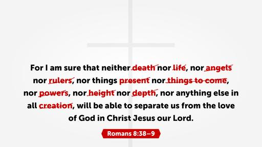 Romans 8:38 verse of the day image