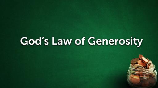 God's Law of Generosity