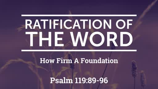 09/08/2019 Ratification of the Word