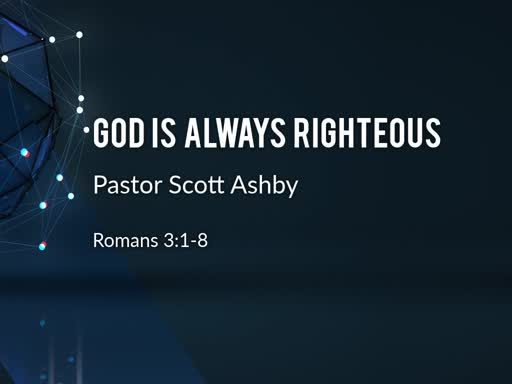God is Always Righteous