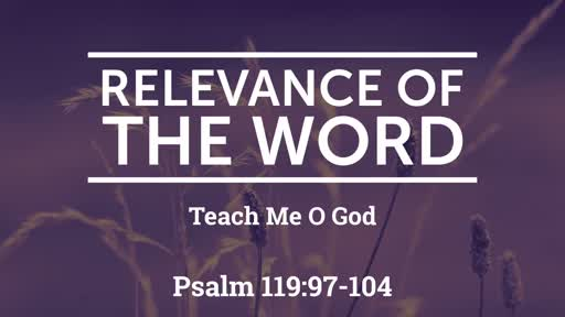 09/15/2019 Relevance of the Word