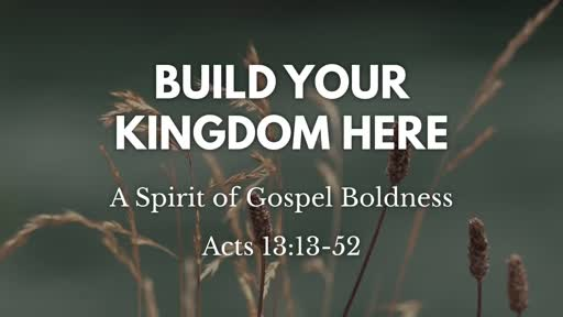 A Spirit of Gospel Boldness