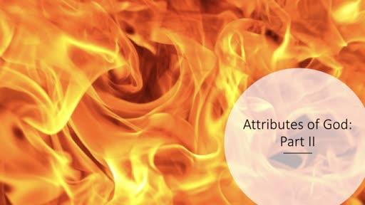 Attributes of God - Part 2