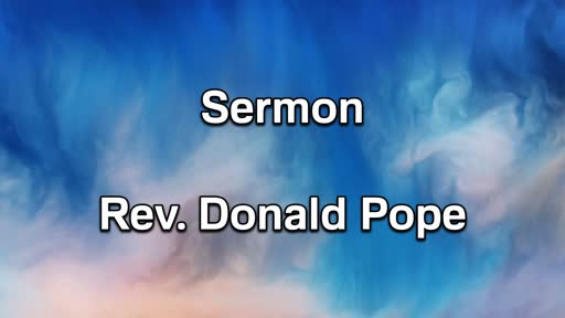 9-15-19 PM Sermon