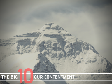 The Big Ten: Our Contentment