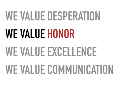 Our Values - Honor