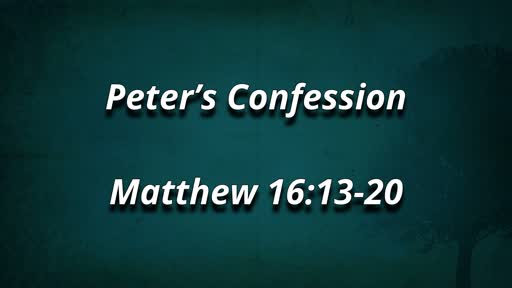 Peter's Confession