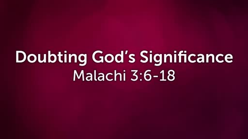Doubting God's Significance