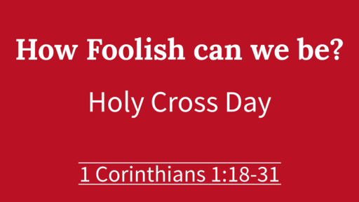 How foolish can we be?