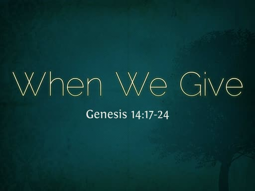 When We Give