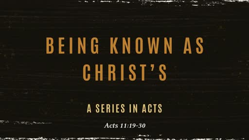 Being known as Christ's