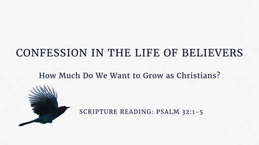 Confession in the Life of Believers