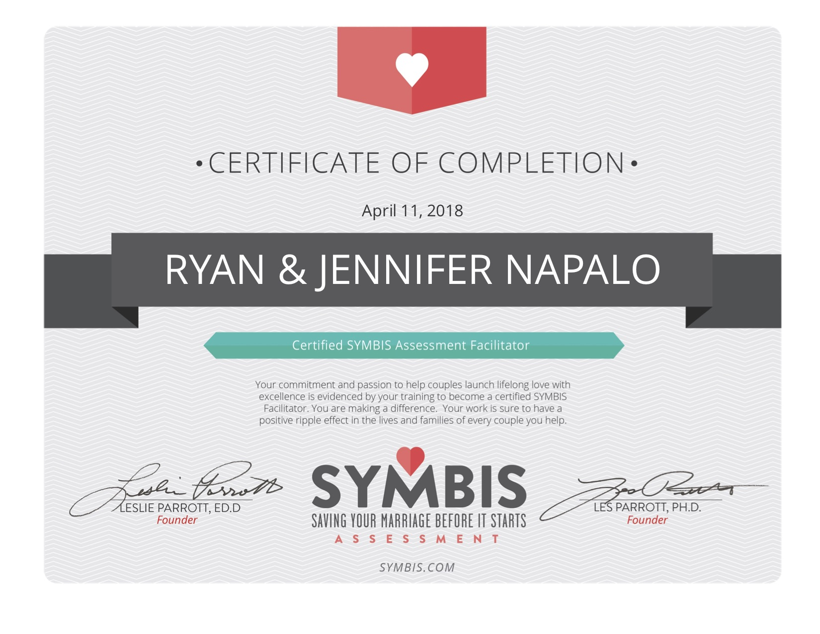SYMBIS Facilitator Certificate