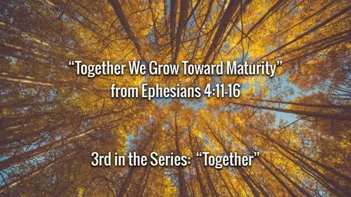 Together We Grow Toward Maturity