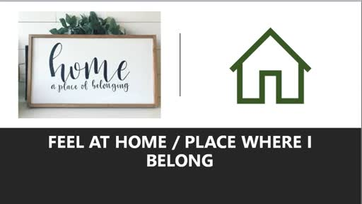 Feel At Home / Place Where I Belong John 15:1-6