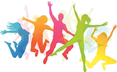 Happy Jumping People - Vector illustration EPS 10 file which makes use of transparencies.