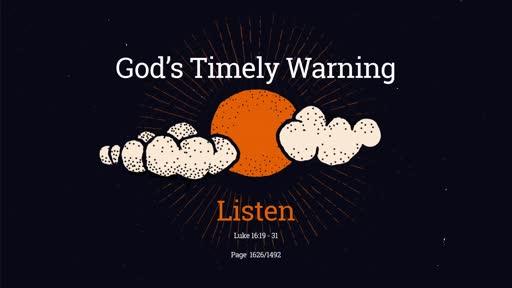 God's Timely Warning
