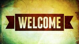 Red Banner welcome 16x9 PowerPoint image