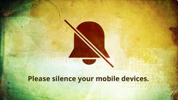 Red Banner phones 16x9 PowerPoint image