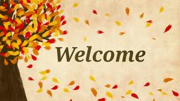 Fall Leaves welcome 16x9 PowerPoint Photoshop image