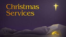 Christmas Bethlehem services 16x9 PowerPoint image