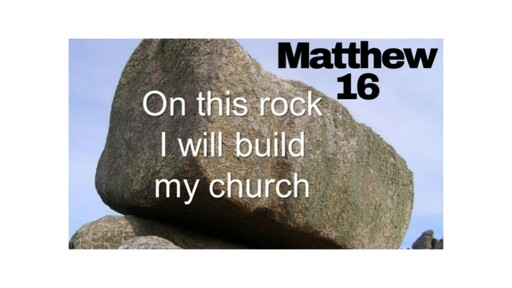 10am Sunday 29 September 2019 - On this rock I will build my church