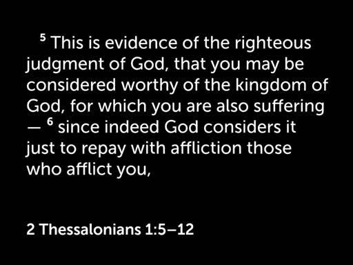 2 Thessalonians 1:5-18