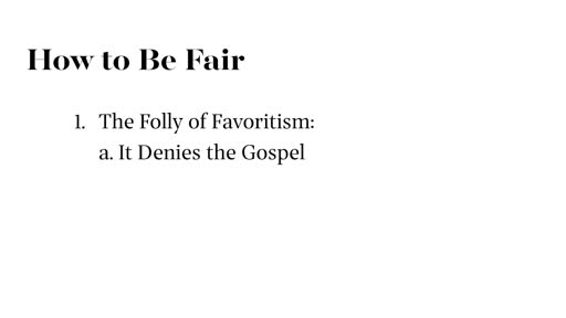 How to Be Fair