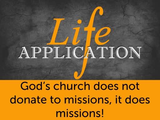 MIssions, Me, & SLBC (Sermon #3)