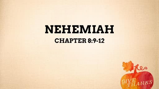 10-2-19 Chapter 8:9-12 Celebrate God