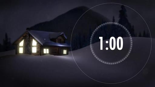 Cabin Snow - Countdown 1 minute