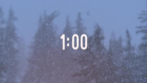 Swirling Snow - Countdown 1 minute