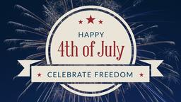 4th of July 16x9 PowerPoint Photoshop image