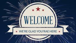 4th of July welcome 16x9 PowerPoint Photoshop image