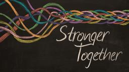 Stronger Together 16x9 PowerPoint Photoshop image