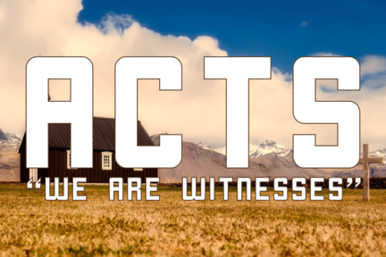 """Acts: """"We are Witness"""""""
