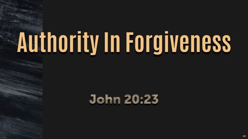 Authority in Forgiveness