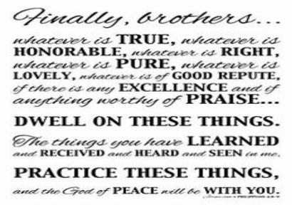 Philippians 4:8-9 Sept 29, 2019