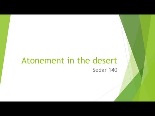 Atonement In The Desert
