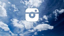 Clouds instagram 16x9 PowerPoint image