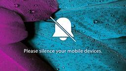 Purple Blue Plumes phones 16x9 PowerPoint image