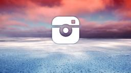 Red Sunset Over Sea instagram 16x9 PowerPoint image