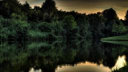 Lake Sunset sermon title 16x9 PowerPoint image