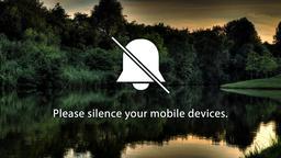 Lake Sunset phones 16x9 PowerPoint image