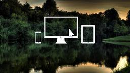 Lake Sunset website 16x9 PowerPoint image