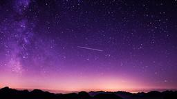 Shooting Star Over Mountains sermon title 16x9 PowerPoint image