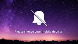Shooting Star Over Mountains phones 16x9 PowerPoint image