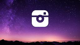 Shooting Star Over Mountains instagram 16x9 PowerPoint image
