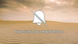 Sand Dunes phones 16x9 PowerPoint image